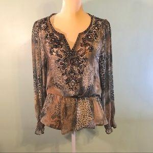 RENEE RENEE Animal print blouse embellished